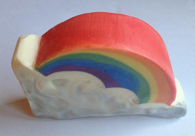 Rainbow soap by Claudia