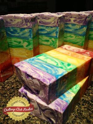 Rainbow Soap by Kangaroo Apple Soap Studio