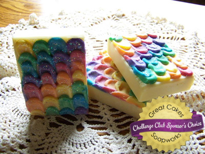 Rainbows & Sprinkles Petal soap by Just My Family's