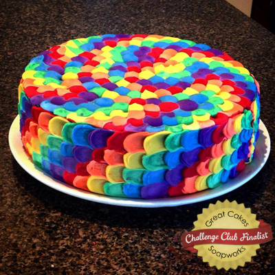Rainbow Petal Soap Cake by Kangaroo Apple Soap Studio