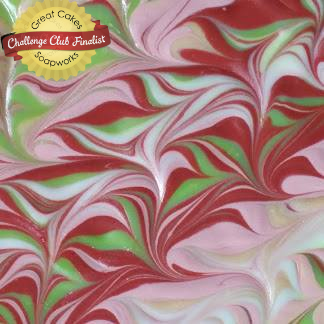 Serpentine Swirl soap, scented with Cranberry Chutney by Sweet Vivi's Bath and Body Products