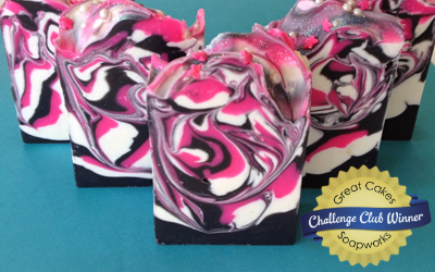 Blackberry Sage spoon swirl soap by Milla