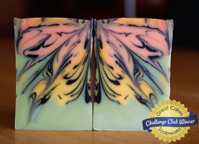 Butterfly Swirl soap