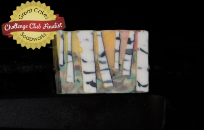 Amy's Birch Tree soap, scented with Oakmoss Sandalwood