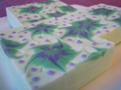 Purple Mangosteen soap by Great Cakes Soapworks, circa 2012