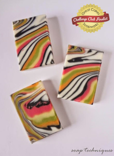 Mirage Spinning Swirl soap by Soap Techniques
