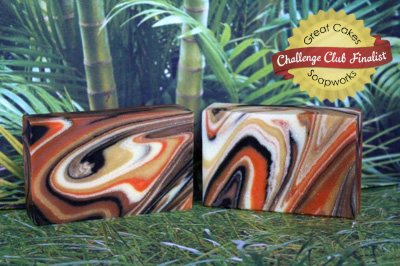 Tiger Tiger Burning Bright Spinning Swirl Soap by Renaissance Soaps