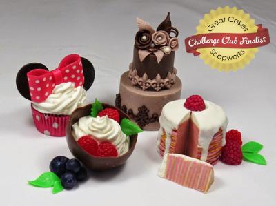 Mini Dessert Soaps by Tatiana