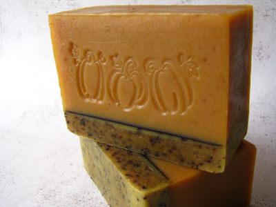 Spiced Pumpkin with Coffee Soap by Great Cakes Soapworks