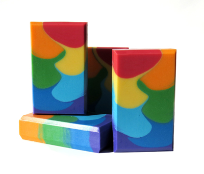 Tall & Skinny Rainbow Shimmy soap by Tatiana