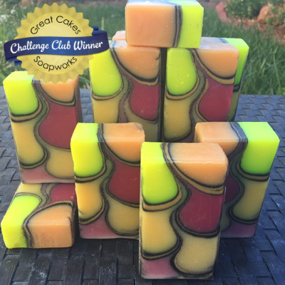 Up in Flames soap by Earth's Raw Beauty