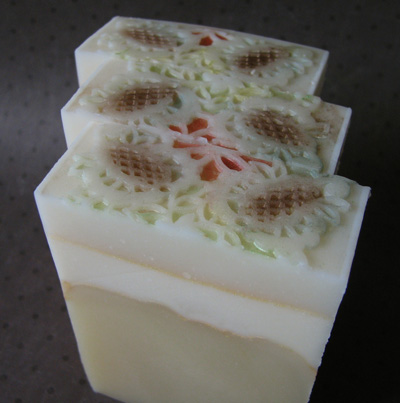 Pine Cone Impression Soap by Great Cakes Soapworks