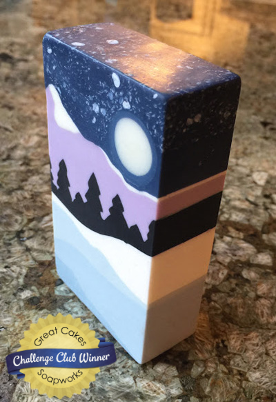 Winter Wonderland soap by Om Nom Soap