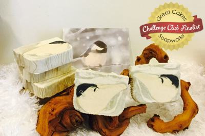 Chickadee in Snow soap by In a State of Namaste