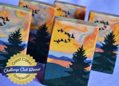 Colorado Sunset soap by Debi Olsen