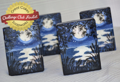 Blue Moon soap by Debi Olsen