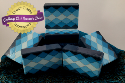 Almost Argyle soap by Marie Zimmerly