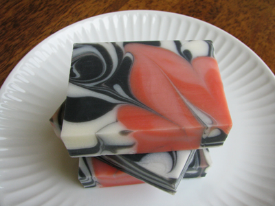 Mango Papaya soap by Great Cakes Soapworks