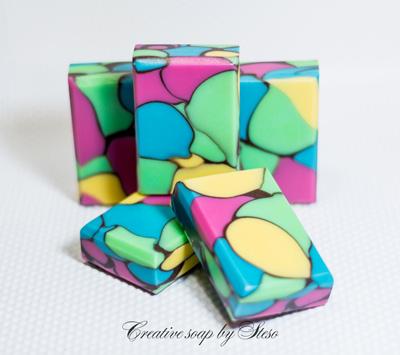 Multi-color Dancing Funnel soap by Tatsiana Serko