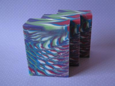 Cherry Berry Stripe soap by Amy Warden