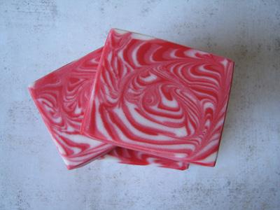 Peppermint Stripe soap by Amy Warden